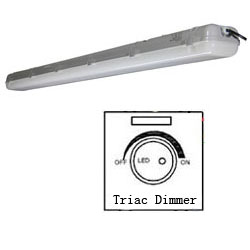 triac dimmabl led tri-proof light pc 60w 1500mm 250x250mm