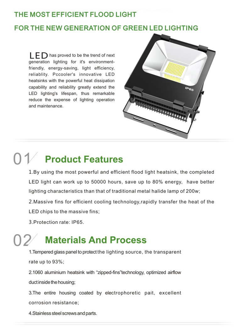 LED Flood Light b series 100w 1