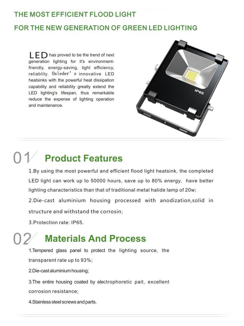LED Flood Light b series 10w 1