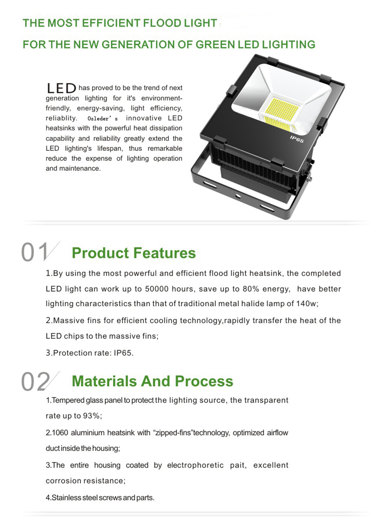 LED Flood Light b series 70w 1