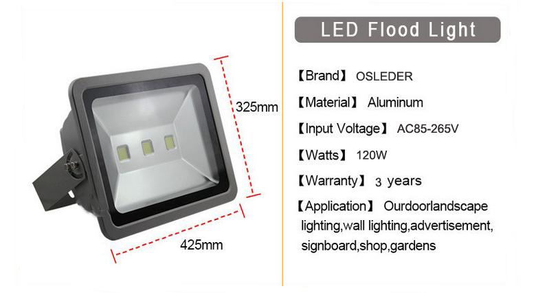 led flood light a series 120w 1