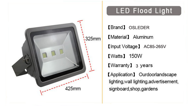 led flood light a series 150w 1
