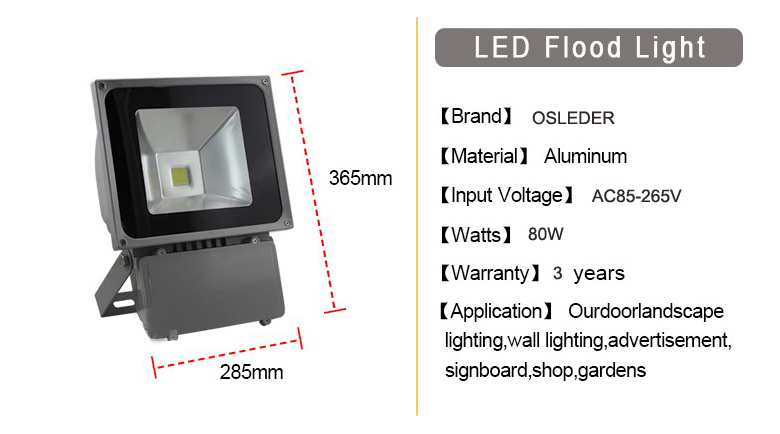 led flood light a series 80w 1