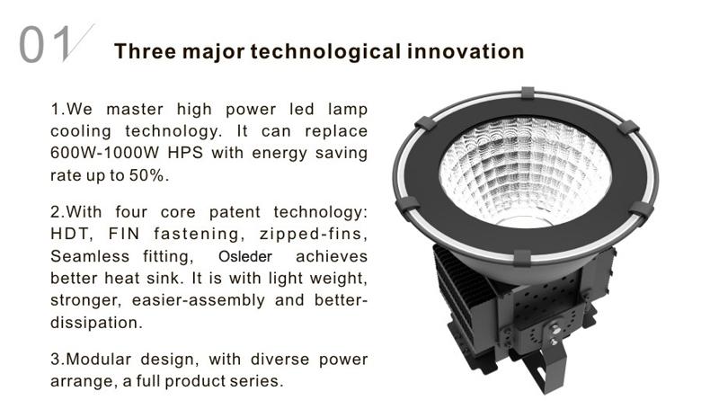 led high bay light d series 100w 1