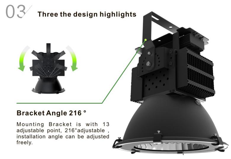 led high bay light d series 100w 3