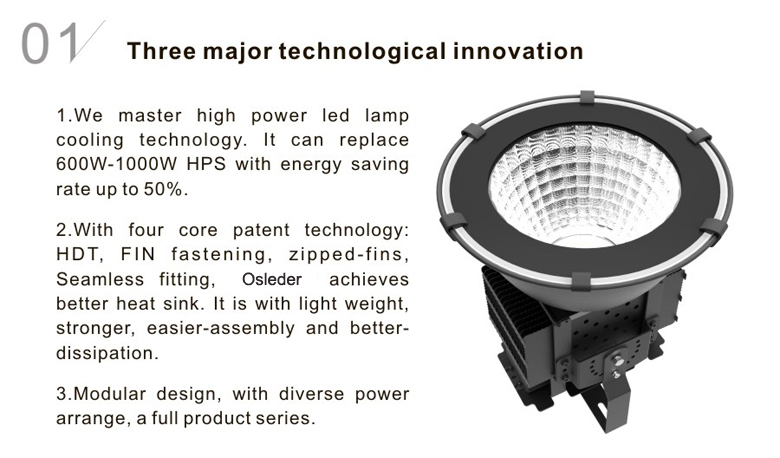 led high bay light d series 120w 1