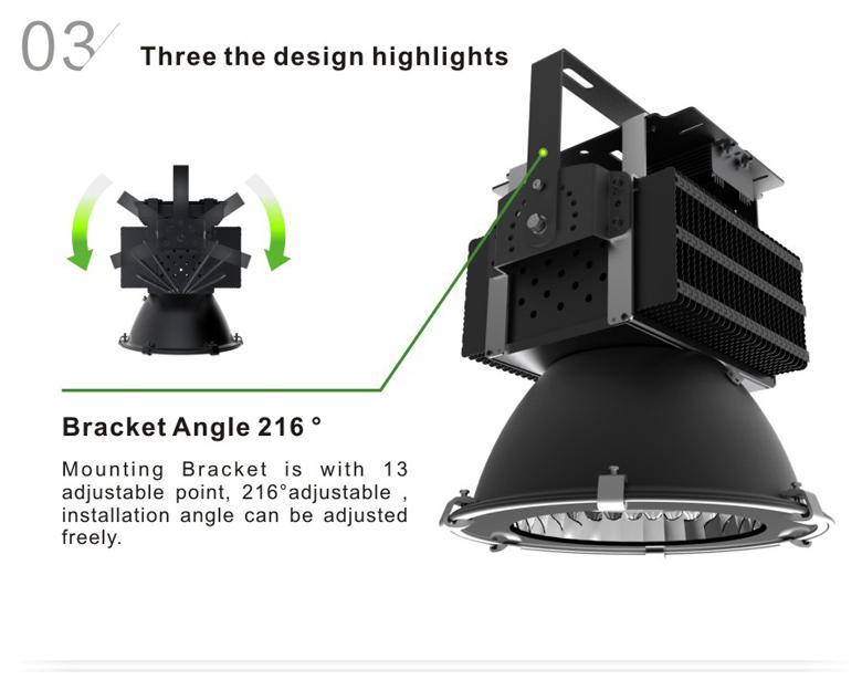 led high bay light d series 150w 3