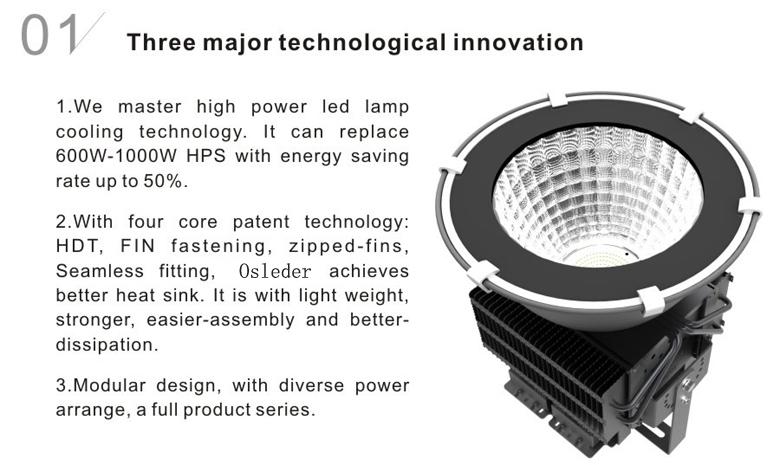 led high bay light d series 300w 1