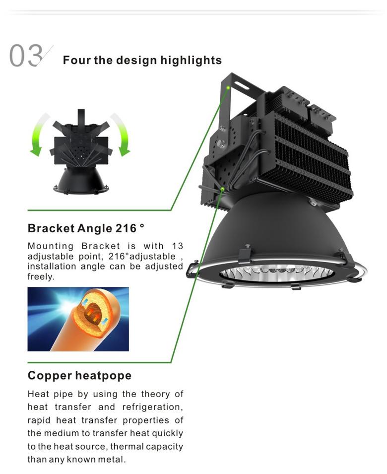 led high bay light d series 300w 3