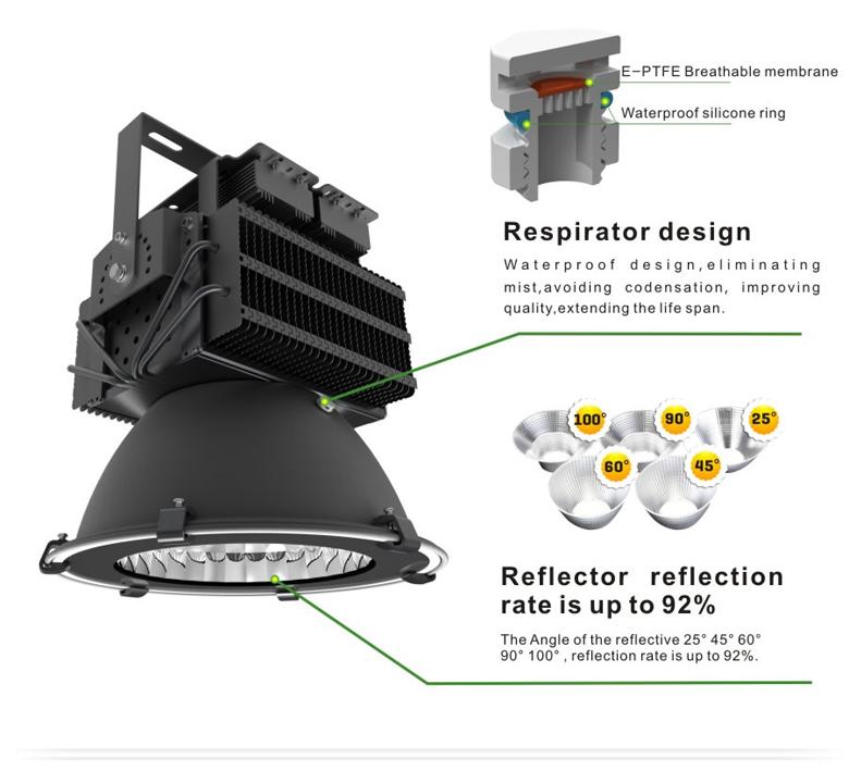 led high bay light d series 300w 4