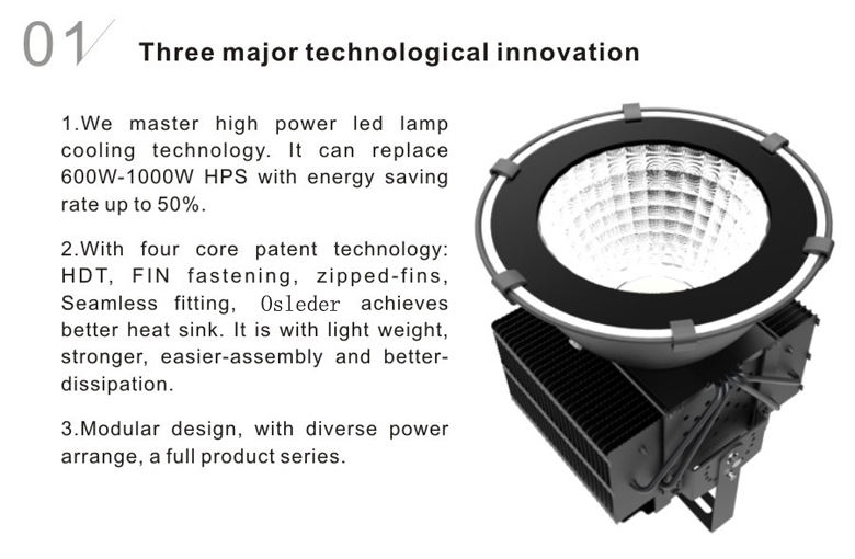 led high bay light d series 400w 1