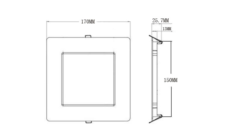 recessed square led panel light 170 780x475 size