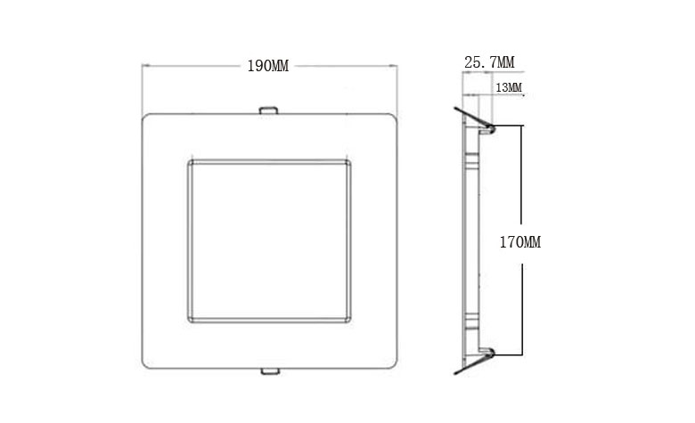 recessed square led panel light 190 780x475 size