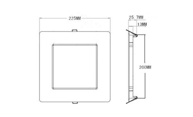 recessed square led panel light 225 780x475 size