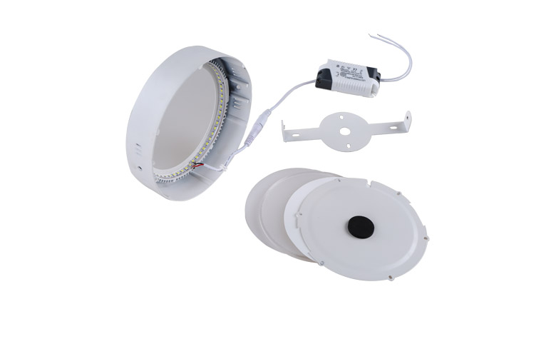 Surface Mounted Round LED Panel Light 18W D225mm 780x475 c