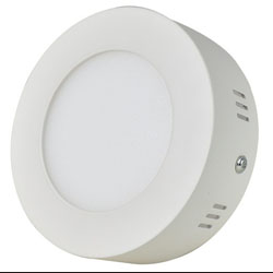 Surface Mounted Round LED Panel Light 6W D120mm 250x250