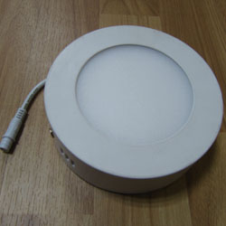 Surface Mounted Round LED Panel Light 9W D145mm 250x250mm