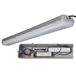 emergency led tri-proof light pc 40w 1200mm