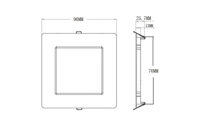 recessed square led panel light 90 780x475 size