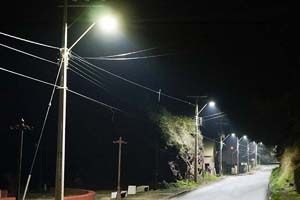 120W Street Light in Pelluhue, Chile