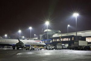 300W LED Floodlight at Glasgow Airport @ UK