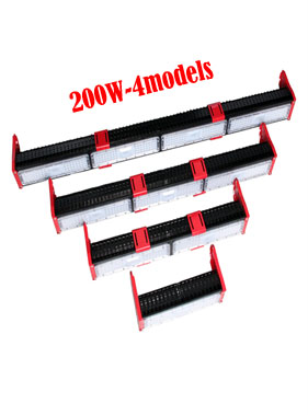 Black with Red Linear LED High Bay Light 200W 4Model Chip Brand Philips SMD3030